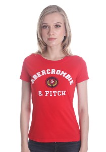 Abercrombie & Fitch Women's Short Sleeve T-shirt [A23] Red