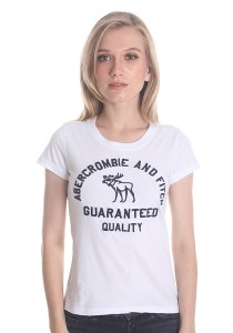 Abercrombie & Fitch Women's Short Sleeve T-shirt [A17] White