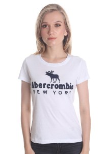 Abercrombie & Fitch Women's Short Sleeve T-shirt [A24] White