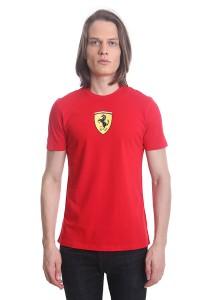 Ferrari Men's Short Sleeve Shield T-shirt [10565] Red