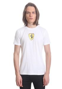 Ferrari Men's Short Sleeve Shield T-shirt [10565] White