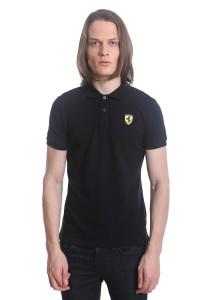 Ferrari Men's Short Sleeve Shield Polo Tee [10409] Black