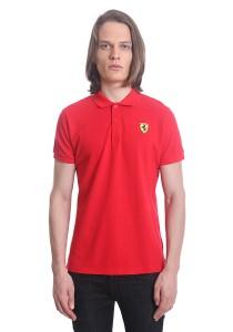 Ferrari Men's Short Sleeve Shield Polo Tee [11423] Red