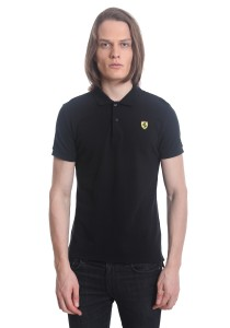 Ferrari Men's Short Sleeve Shield Polo Tee [12308] Black