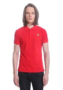 Ferrari Men's Short Sleeve Shield Polo Tee [2757] Red