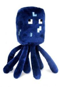 Minecraft Squid Plush Toy Blue