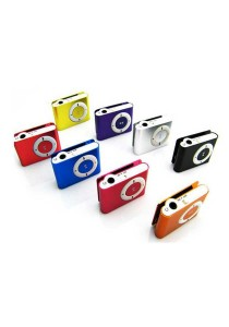 MINI CLIP MP3 PLAYER Micro USB MicroSD Card reader-Orange
