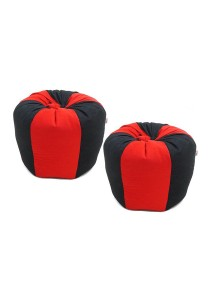 Mini Cutie Kids Bean Bag - Set of 2 (Red / Black)