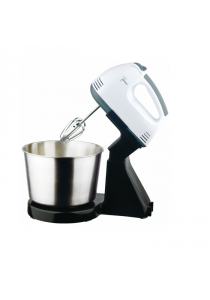 Portable Baking Hand Mixer With Detachable Stainless Steel Bowl