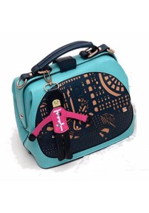 Ladies Elegant Design Leather Dinner Handbag Cross Body Sling Bag (Little Horse Guard)