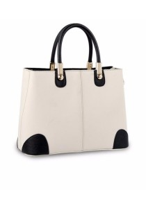 Ladies Leather Handbag Tote Bag (Dual Color Design)