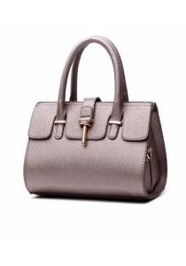 Ladies Leather Handbag Tote Bag #2: Mortise Lock Design)