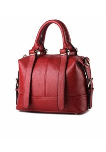 Ladies Leather Handbag Tote Bag (Dumpling Design)