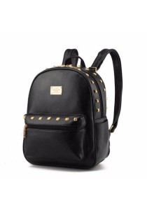 Korean Stylist Ladies Leather Backpack Casual Rucksack Bag #6: Classic Design)