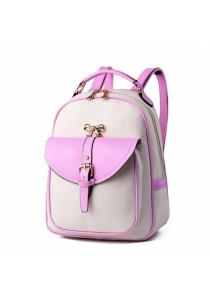 Korean Stylist Ladies Leather Backpack Casual Rucksack Bag (New Arrival)