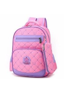 2-in-1 Kid Girl Quilt Bear Design School Bag Backpack + Free Stationery Case