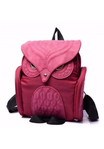 Korean Stylist Ladies Nylon Backpack Casual Rucksack Bag Owl Design