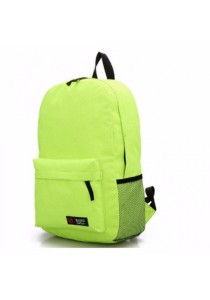Classic Candy Color Nylon Backpack School Bag