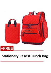 Set of 3 Kid Backpack School Bag, Stationery Case and Lunch Bag