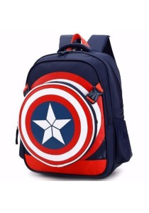 2-in-1 Kid Boy Captain America Design School Bag Backpack + Detachable Sling Bag