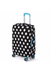 Stretchable Elastic Travel Luggage Suitcase Protective Cover (Black & White Dots)