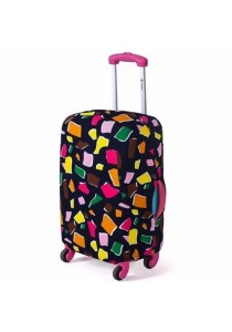 Stretchable Elastic Travel Luggage Suitcase Protective Dusk Cover (Colorful Pieces)