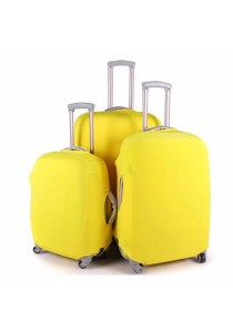 Stretchable Elastic Travel Luggage Suitcase Protective Cover Plain Color (Yellow)