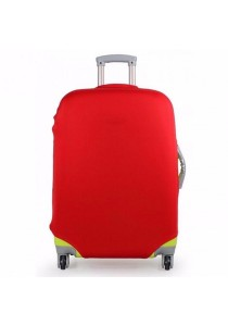 Stretchable Elastic Travel Luggage Suitcase Protective Cover Plain Color (Red)