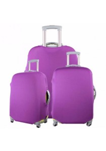 Stretchable Elastic Travel Luggage Suitcase Protective Cover Plain Color (Purple)