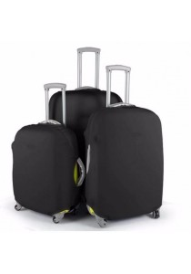 Stretchable Elastic Travel Luggage Suitcase Protective Cover Plain Color (Black)
