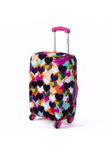 Stretchable Elastic Travel Luggage Suitcase Protective Cover (Heart)