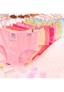 (Set of 6 Pieces) Ladies Underwear Seamless Low Waist Soft Bikini Panties #2 - Plain Color