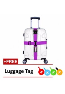 Suitcase Luggage Travel Cross Strap with Combination Lock and Name Tag