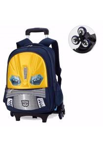 Kid School Bag Backpack Transformer Design Trolley Bag (6 Wheels)
