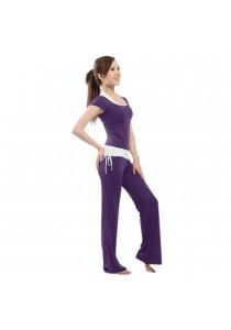 Modal Lenzing Yoga and Sport 3 Pieces Set- Purple