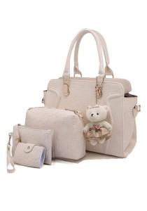 Momorain 4in1 Bear Pendant Elegant Fashion Handbags