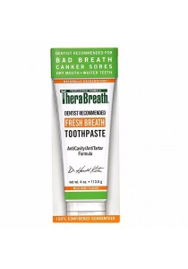 TheraBreath Dentist Recommended Fresh Breath Dry Mouth Toothpaste Mild Mint 4 Ounce (Pack of 1)