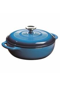 Lodge Color Enameled Cast Iron Dutch Oven (Caribbean Blue) (3-Quart)