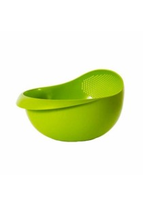 Multi-Function Rinse Bowl With Integrated Colander