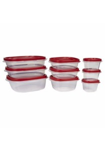 Rubbermaid 18 Piece Food Storage Container Set with Lids