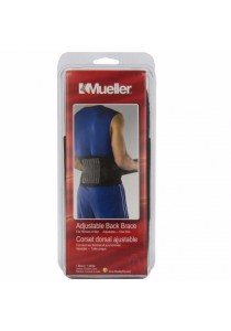 US Mueller Adjustable Back Brace (Black) One Size
