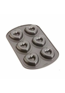 US Wilton Nonstick 6-Cavity Heart Donut Pan