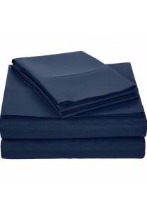 AmazonBasics Microfiber Sheet Set - Queen (Navy Blue)