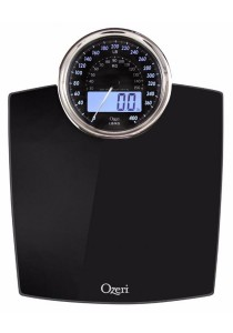 Ozeri ZB19 Rev Digital Bathroom Scale with Electro-Mechanical Weight Dial (Black)