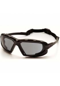 Pyramex Highlander XP Safety Eyewear (Black-Gray Frame/Gray Anti-Fog Lens)