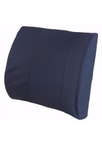 Duro-Med Relax-a-Bac, Lumbar Back Support Cushion Pillow with Insert and Strap (Navy)