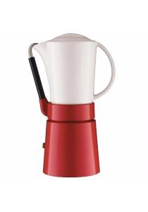 Aerolatte Cafe Porcellana Stove Top Espresso Maker, 4-Cup (Red)