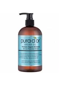 PURA D'OR Hair Loss Prevention Premium Organic Argan Oil Shampoo (Blue Label) 16 Fluid Ounce
