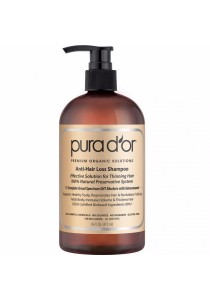 PURA D'OR Anti-Hair Loss Premium Organic Argan Oil Shampoo (Gold Label) 16 Fluid Ounce