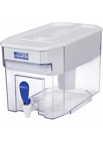 Brita 18 Cup UltraMax Water Dispenser with 1 Filter, BPA Free (White)
